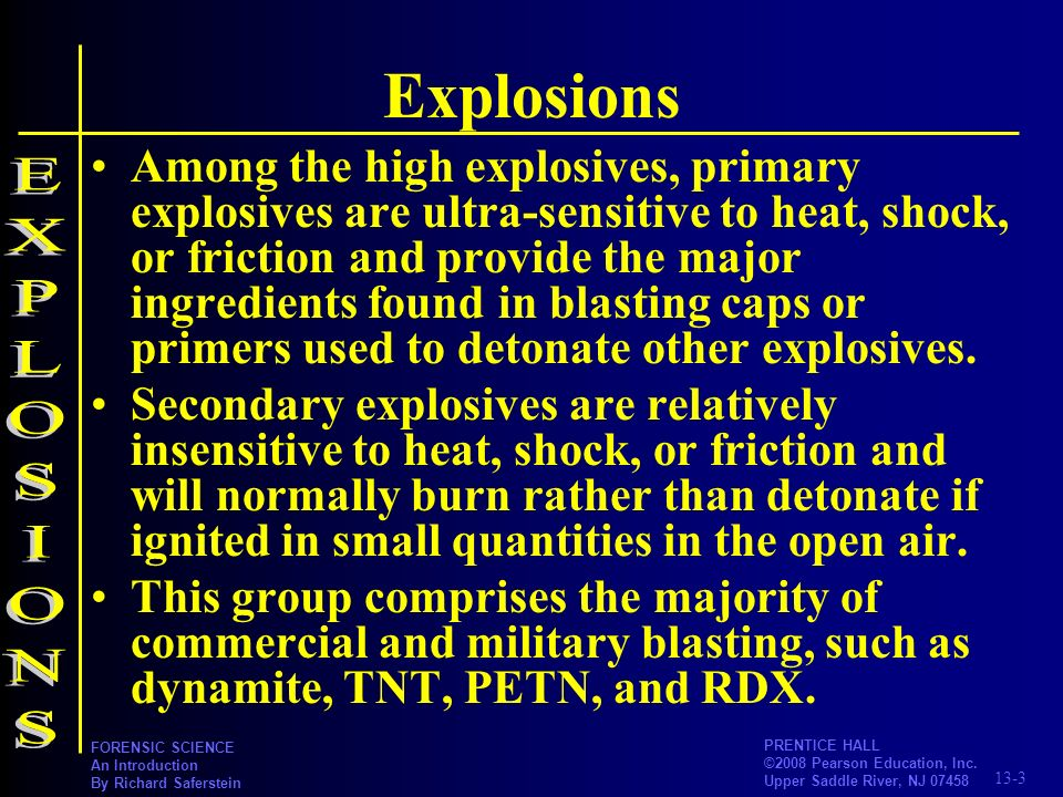 Explosions EXPLOSIONS