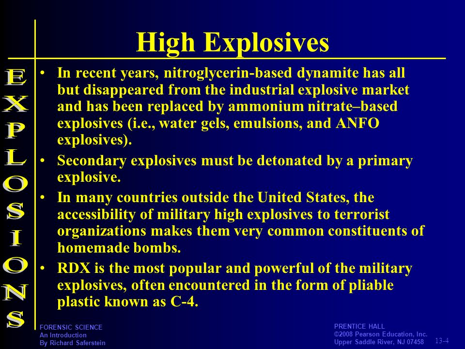 High Explosives EXPLOSIONS