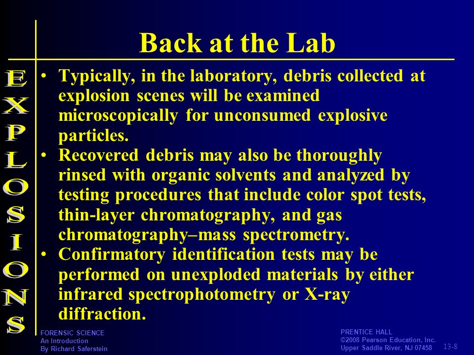 Back at the Lab EXPLOSIONS