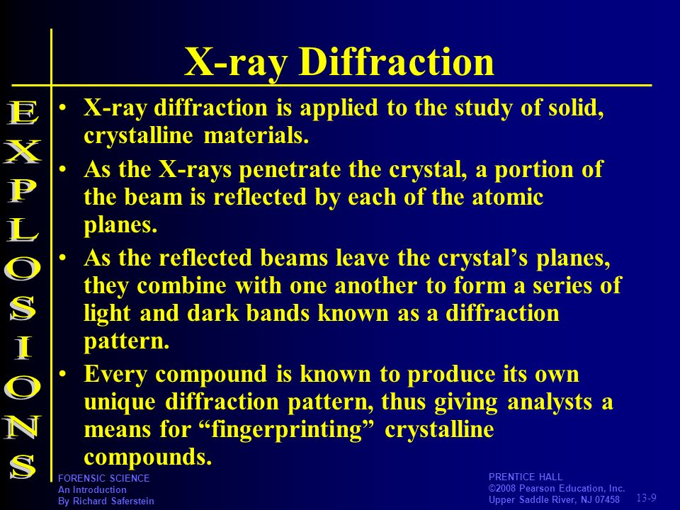 X-ray Diffraction EXPLOSIONS