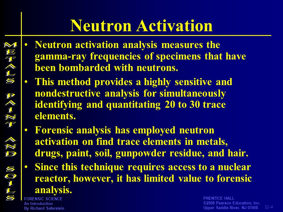 Neutron Activation METALS PAINT AND SOILS