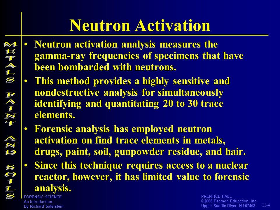 Neutron Activation METALS PAINT AND SOILS