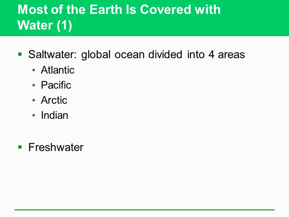 Most of the Earth Is Covered with Water (1)