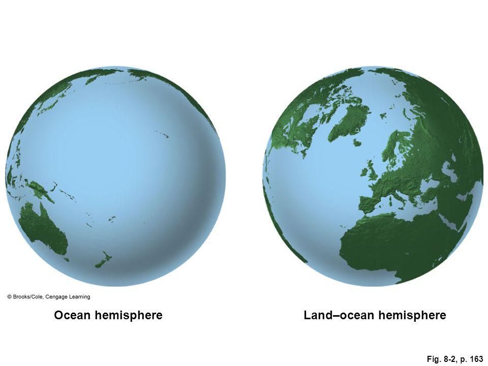 Land–ocean hemisphere