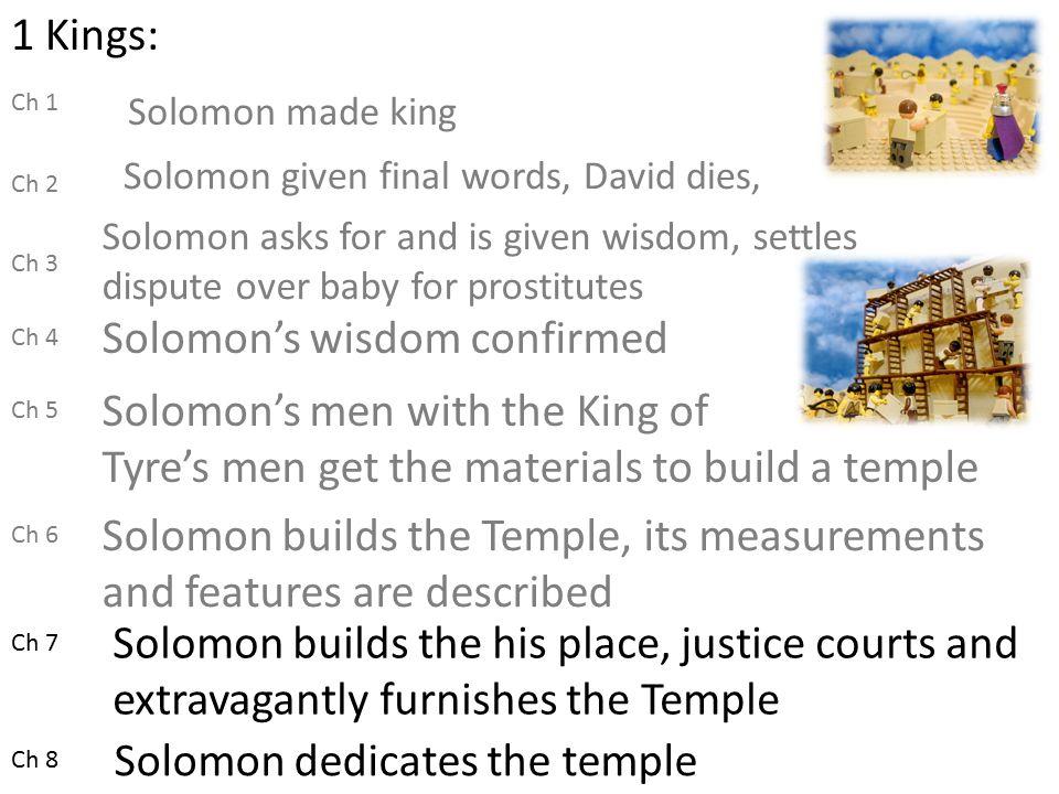 Solomons wisdom confirmed  ppt download