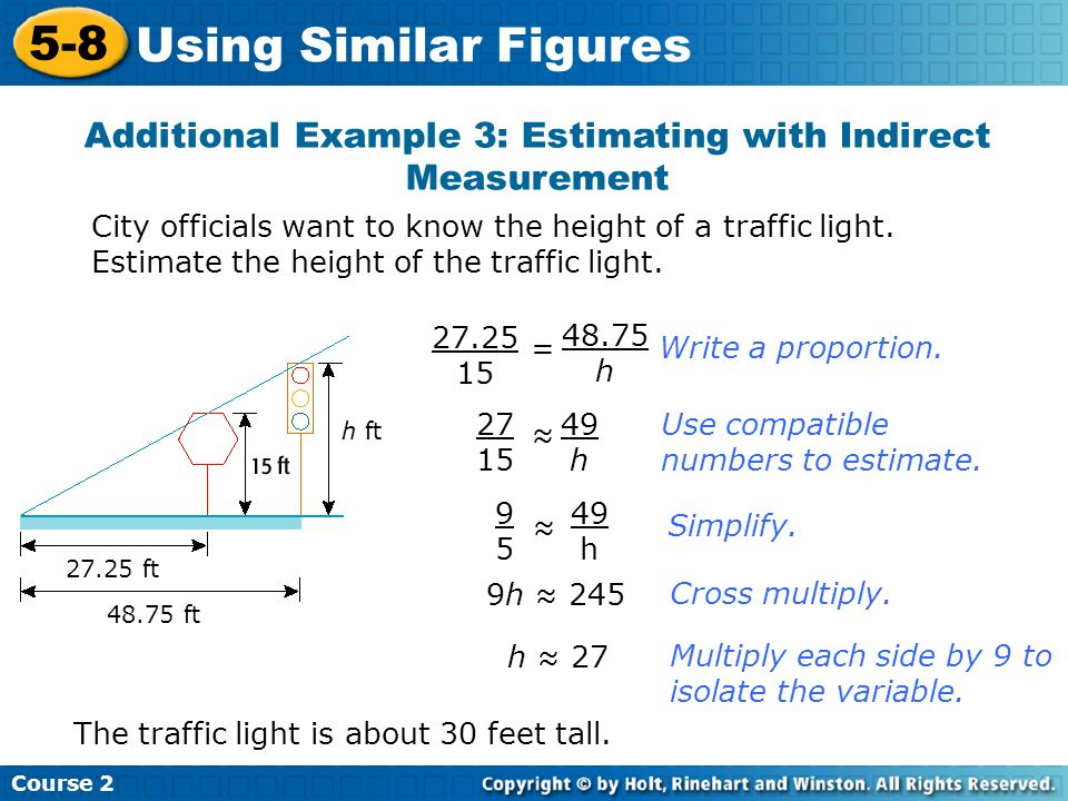 Additional Example 3: Estimating with Indirect Measurement
