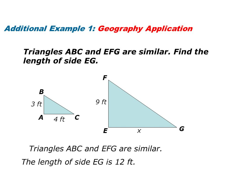 Additional Example 1: Geography Application