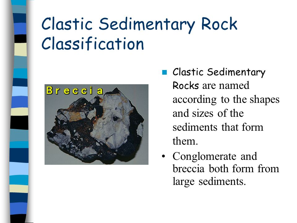 Clastic Sedimentary Rock Classification