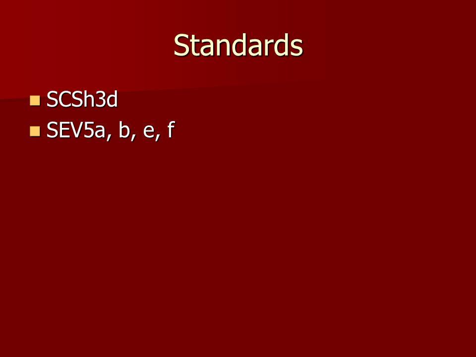 Standards SCSh3d SEV5a, b, e, f