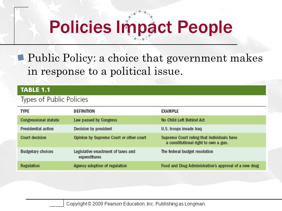 Policies Impact People