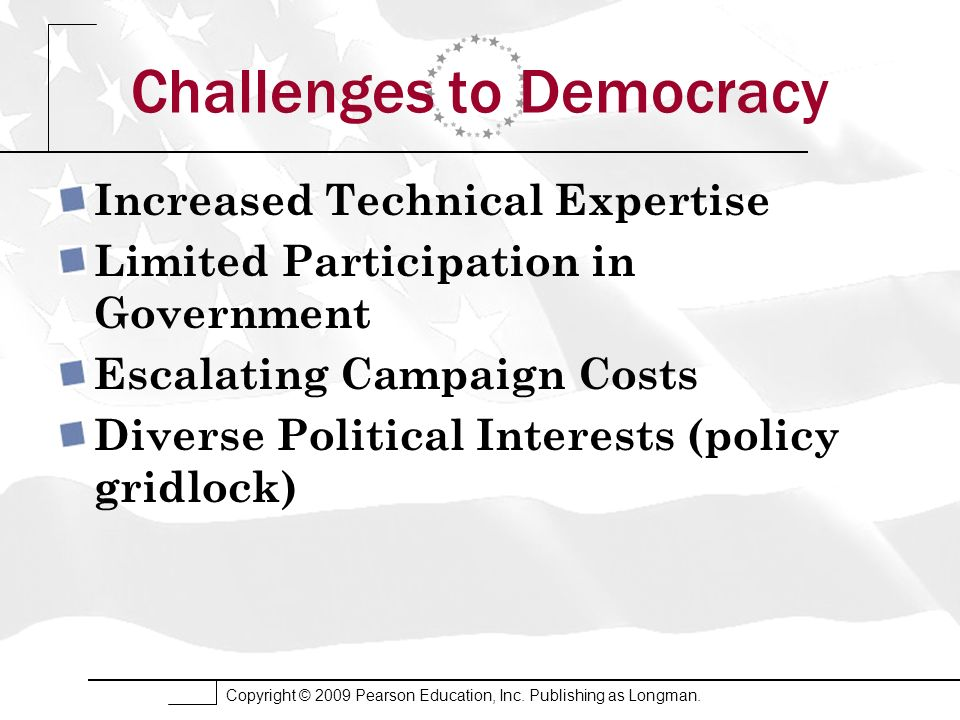 Challenges to Democracy