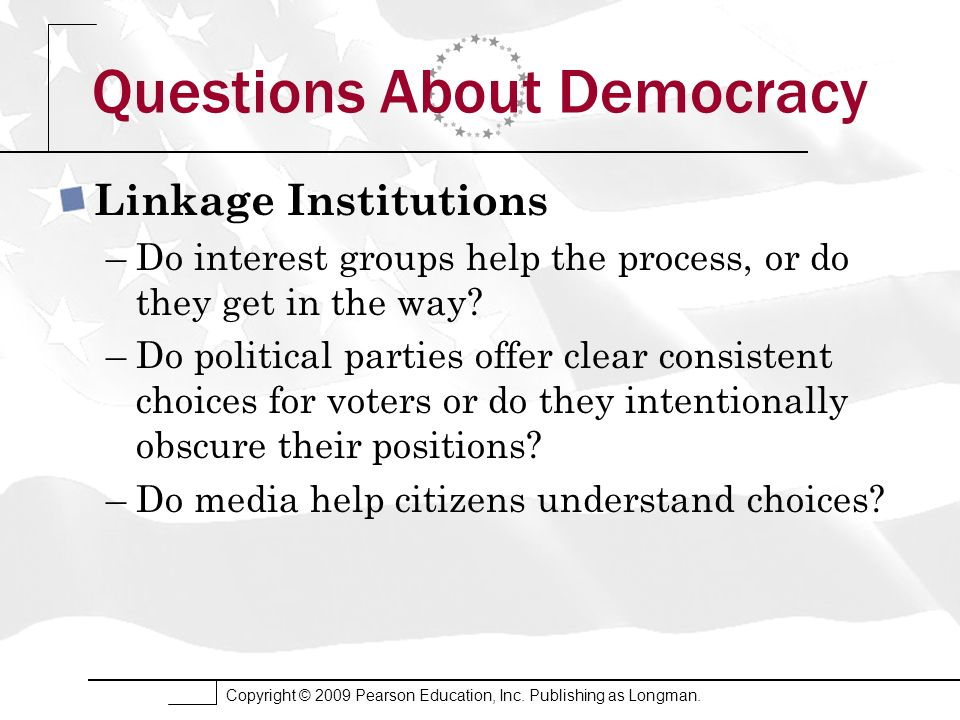 Questions About Democracy