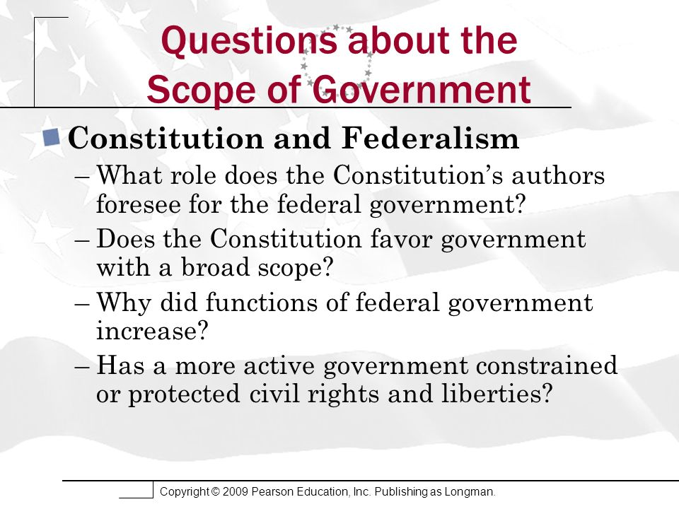 Questions about the Scope of Government
