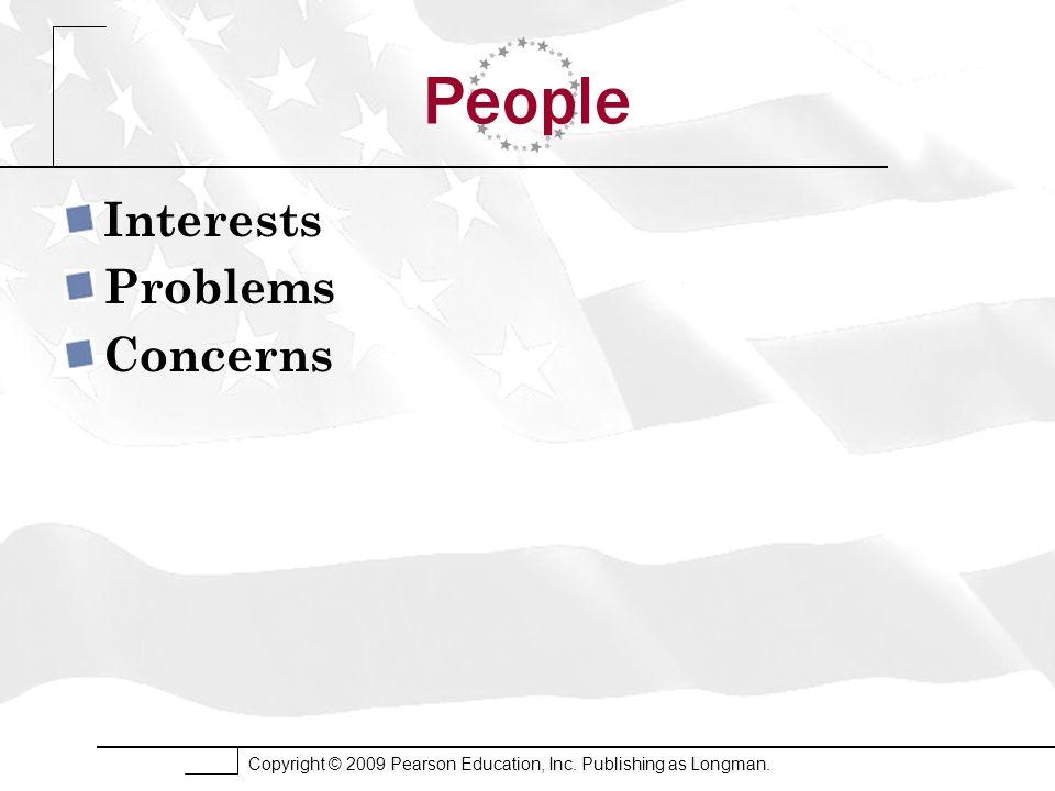 People Interests Problems Concerns