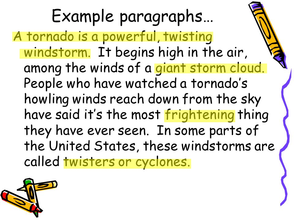 Example paragraphs…