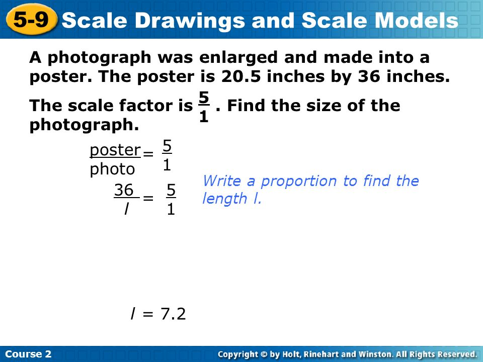 Scale Drawings and Scale Models