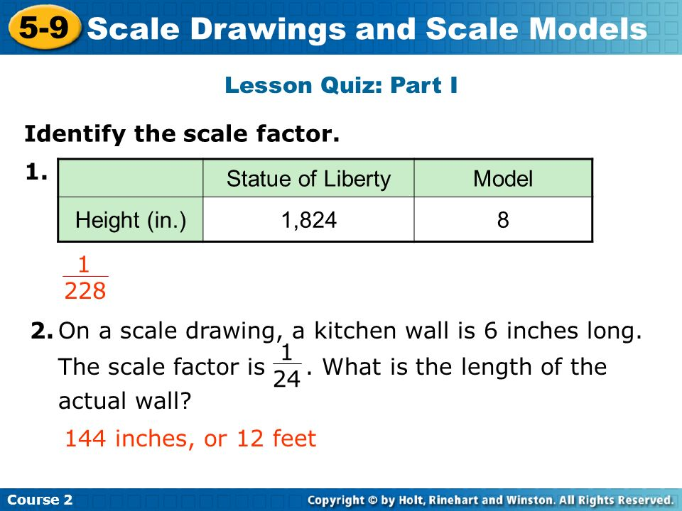 Scale Drawings and Scale Models Insert Lesson Title Here