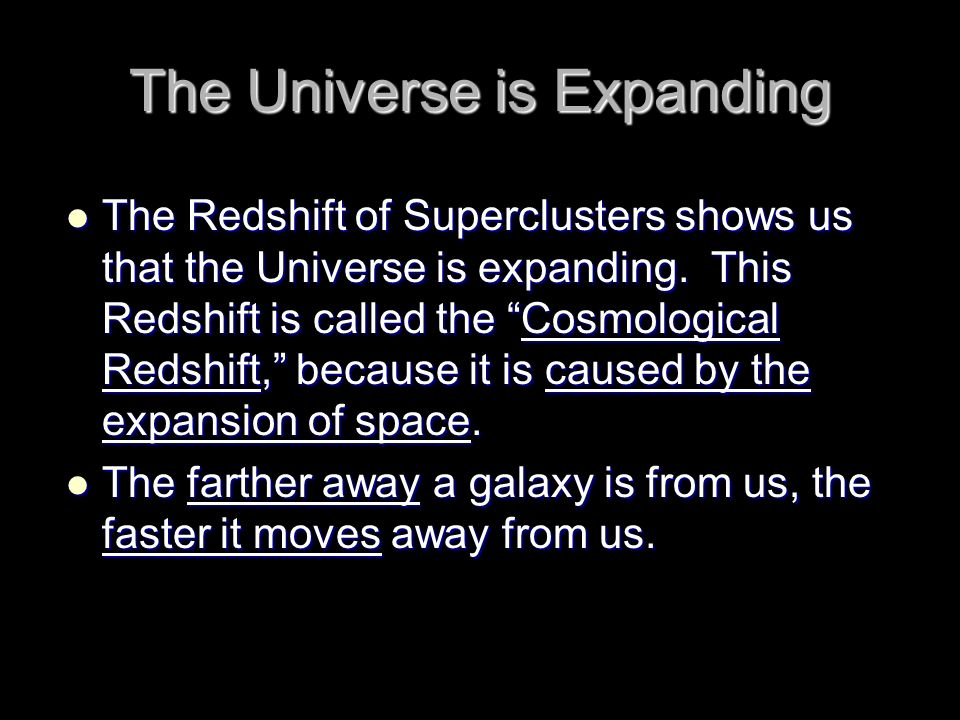 The Universe is Expanding