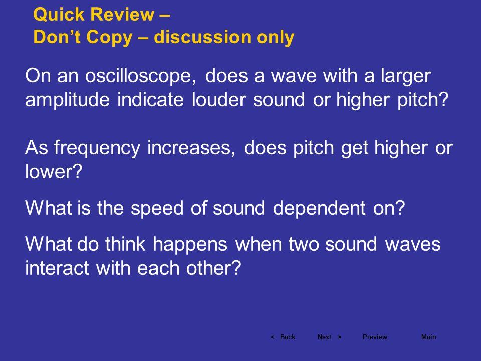 As frequency increases, does pitch get higher or lower