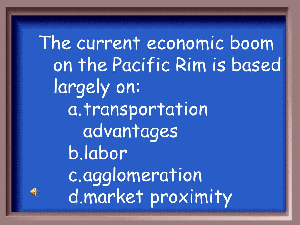 The current economic boom on the Pacific Rim is based largely on: