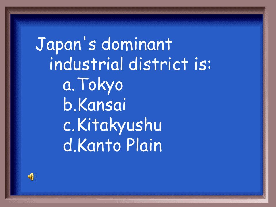 Japan s dominant industrial district is: