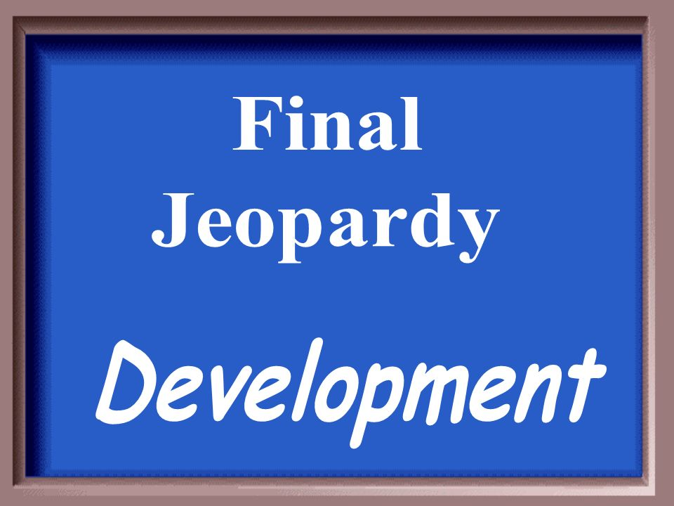 Final Jeopardy Development