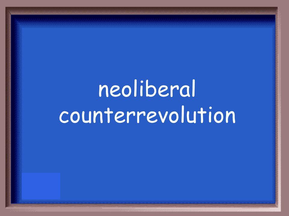 neoliberal counterrevolution