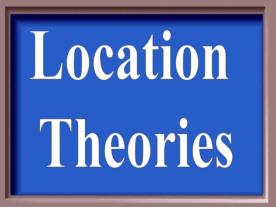 Location Theories
