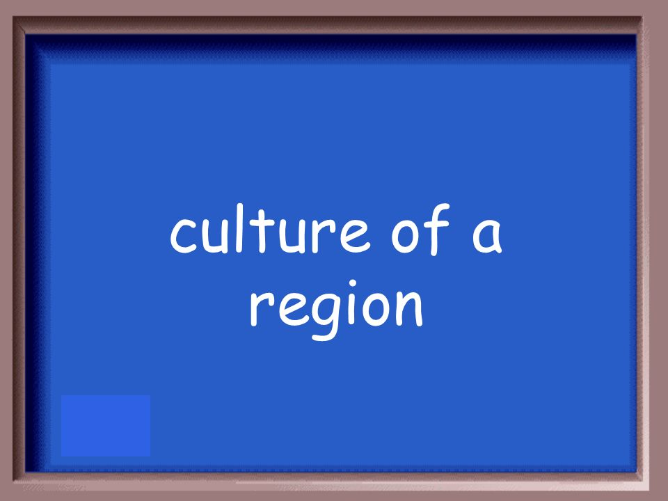 culture of a region