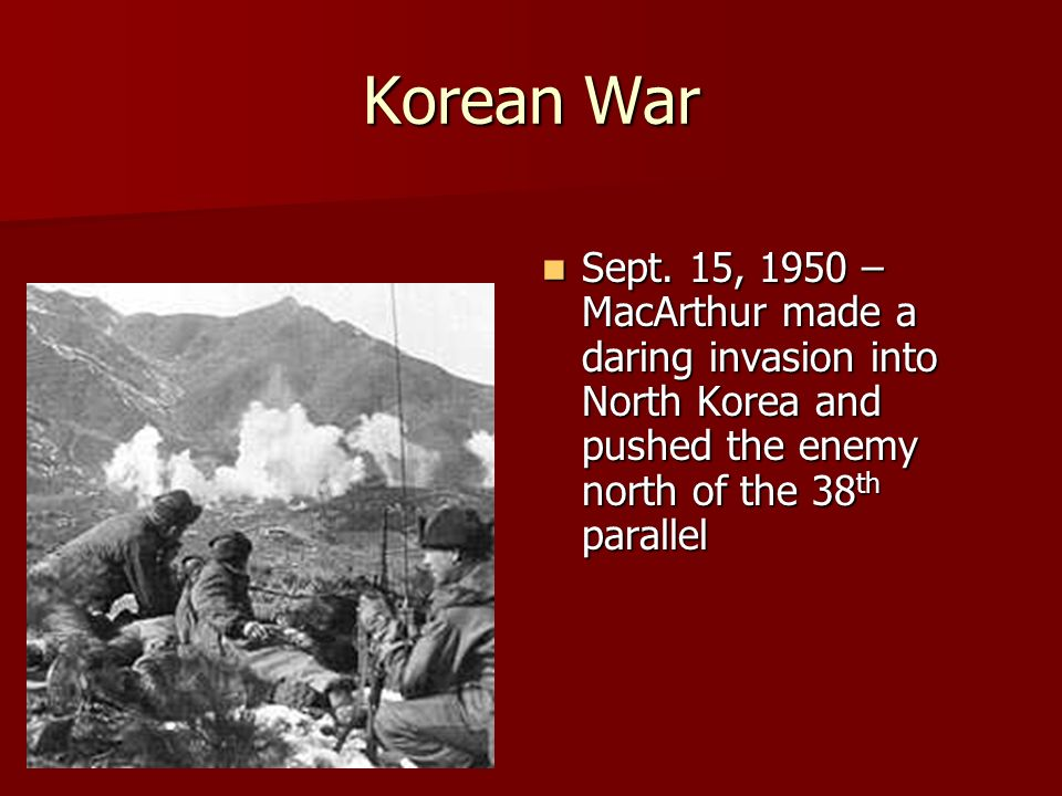 Korean War Sept.