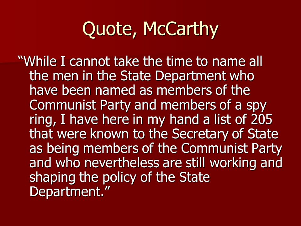 Quote, McCarthy