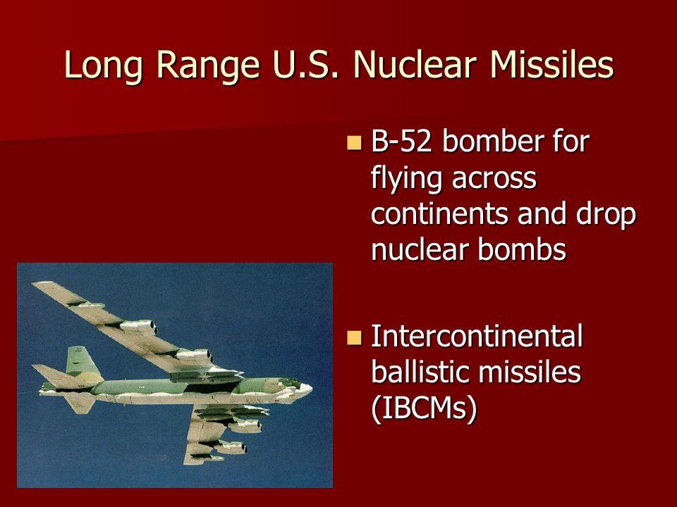 Long Range U.S. Nuclear Missiles