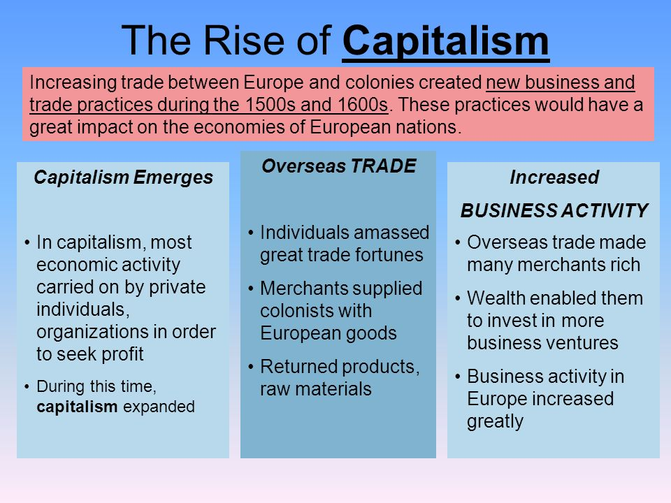 The Rise of Capitalism