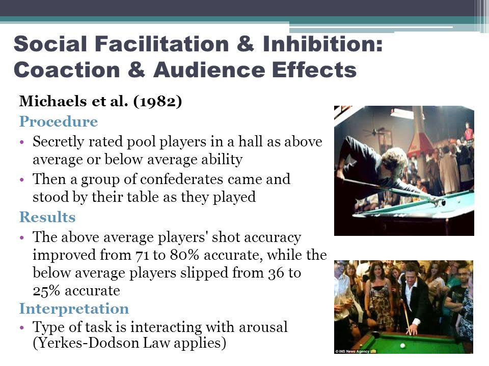 social facilitation complex tasks comparison zajonc s driv Presence of others is a sufficient condition for social facilitation and social  interference  the area of social facilitation have viewed the zajonc and the  cottrell interpretations as  the study should employ both simple and complex  tasks that can be as-  can be used as a baseline for comparison with the  audience conditions.
