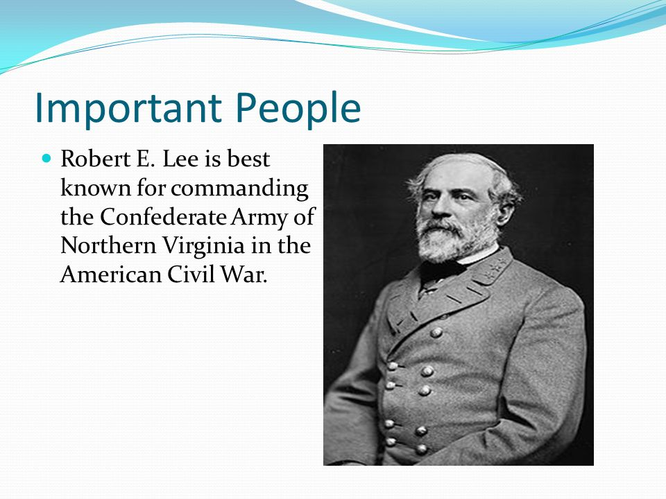 Important People Robert E.