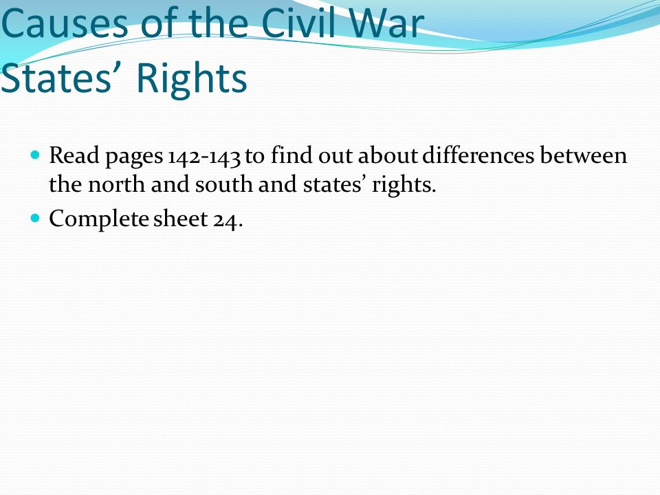 Causes of the Civil War States' Rights