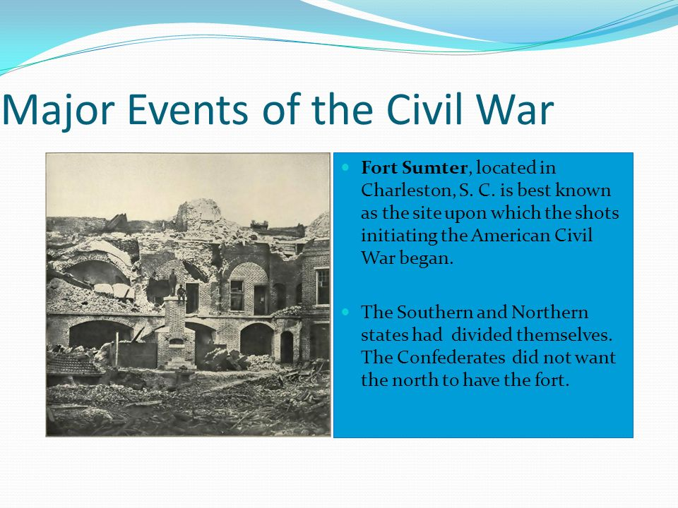 Major Events of the Civil War