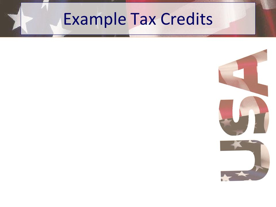 Example Tax Credits