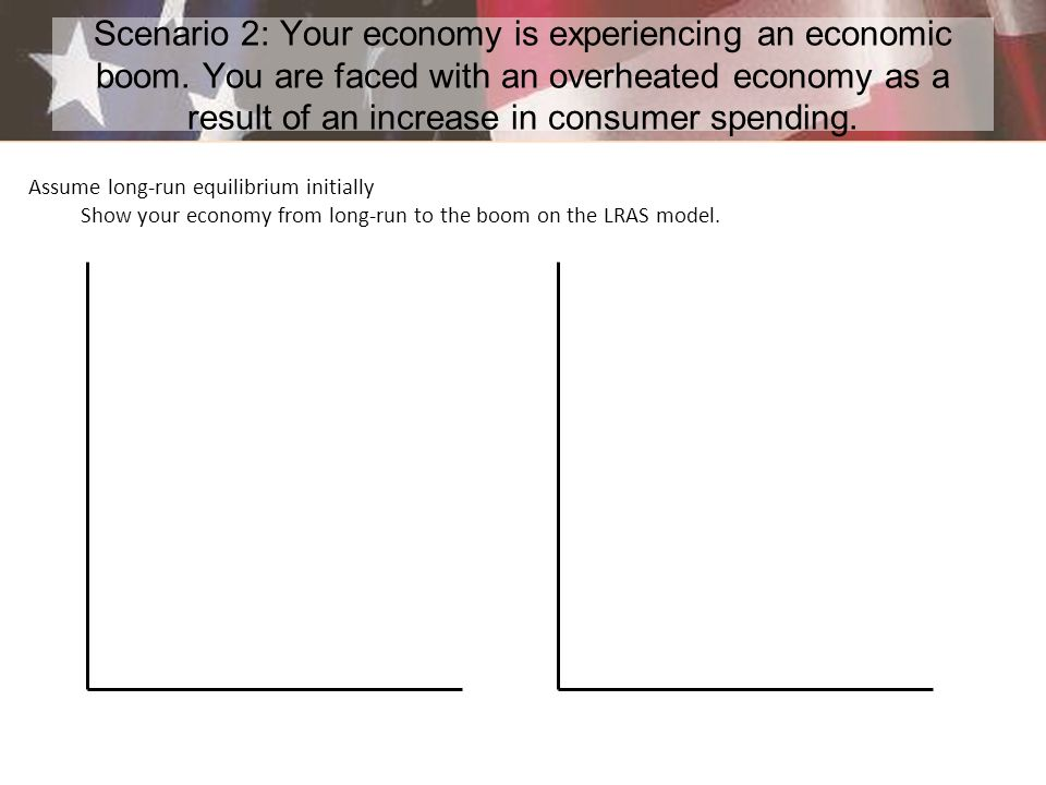 Scenario 2: Your economy is experiencing an economic boom