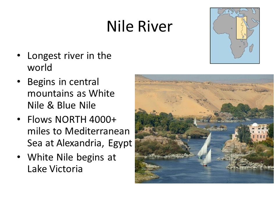 Nile River Longest river in the world