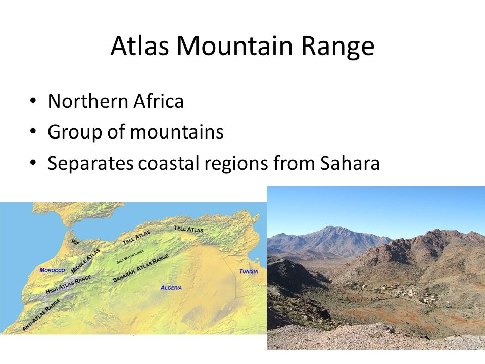 Atlas Mountain Range Northern Africa Group of mountains