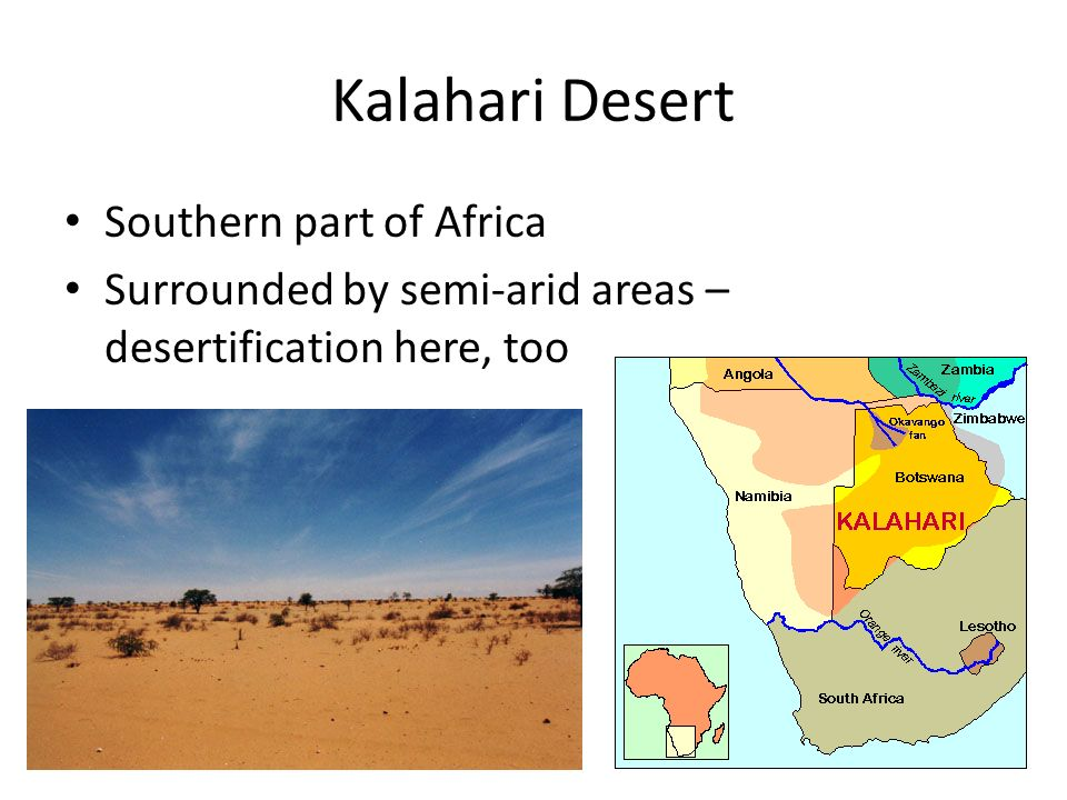 Kalahari Desert Southern part of Africa