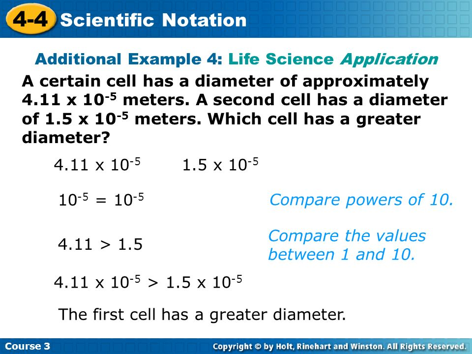 Additional Example 4: Life Science Application