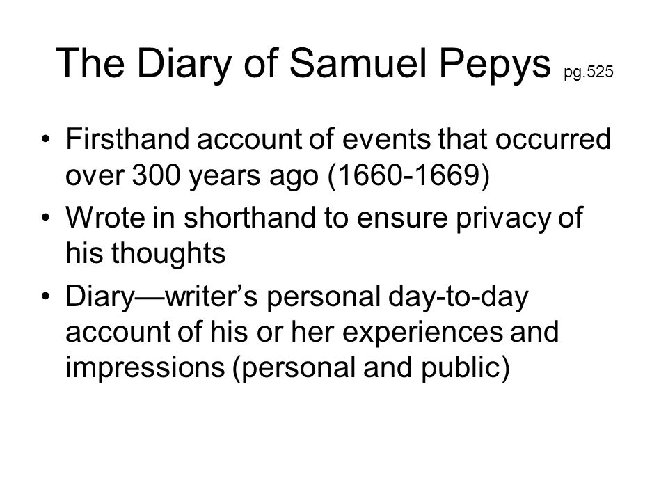 The Diary of Samuel Pepys pg.525