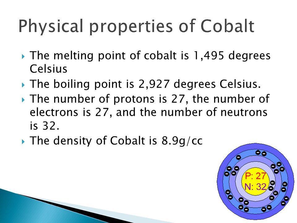 Physical properties of Cobalt