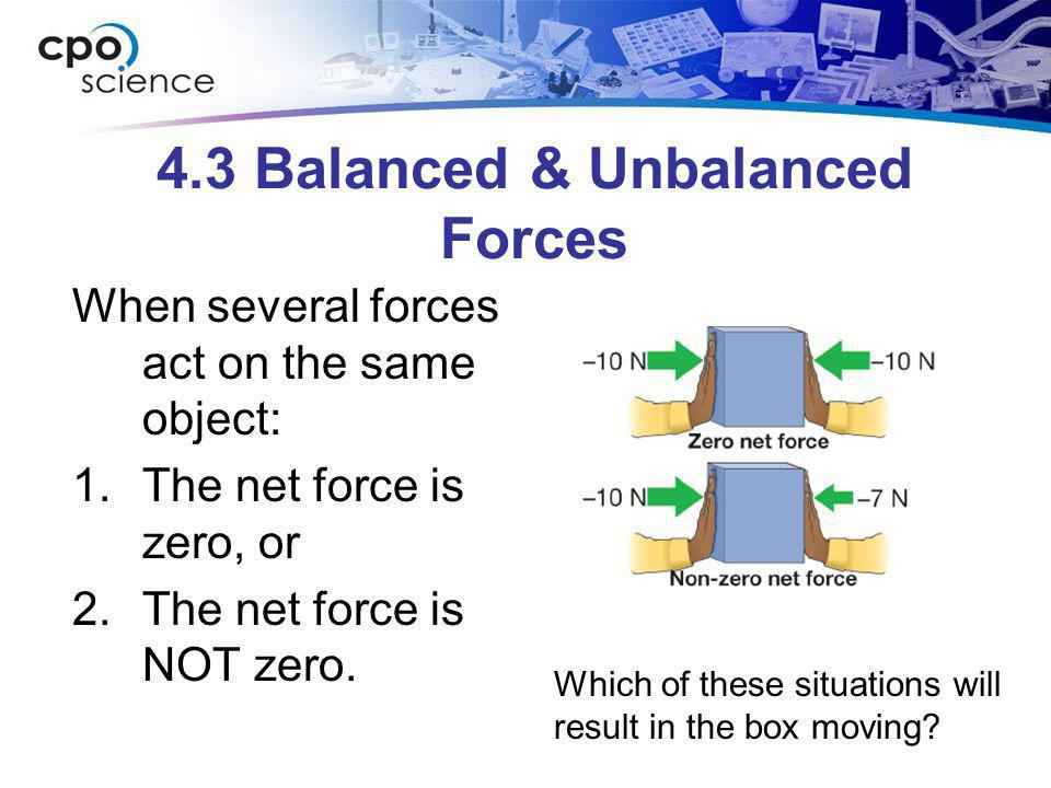 4.3 Balanced & Unbalanced Forces