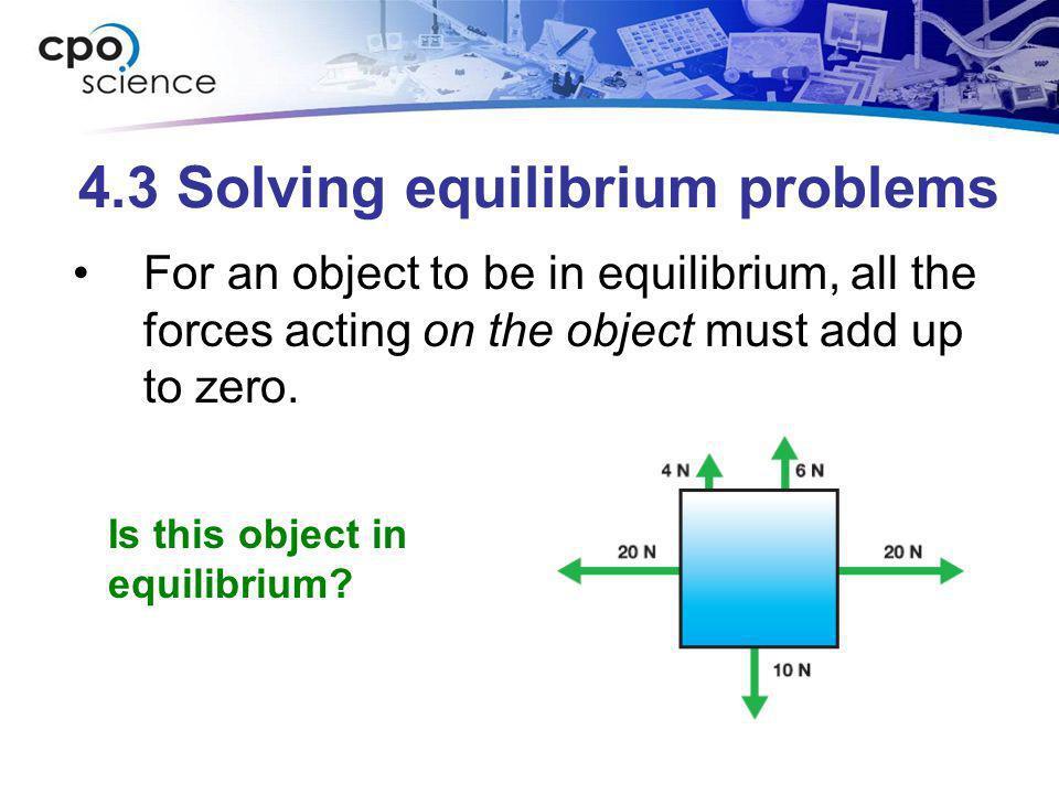 4.3 Solving equilibrium problems