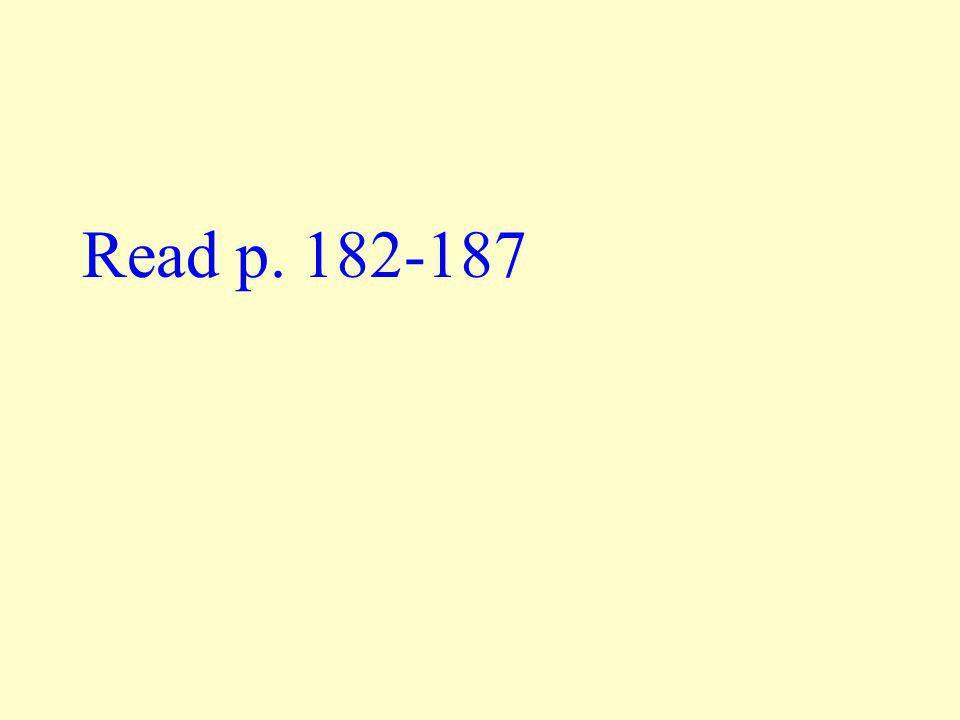 Read p. 182-187