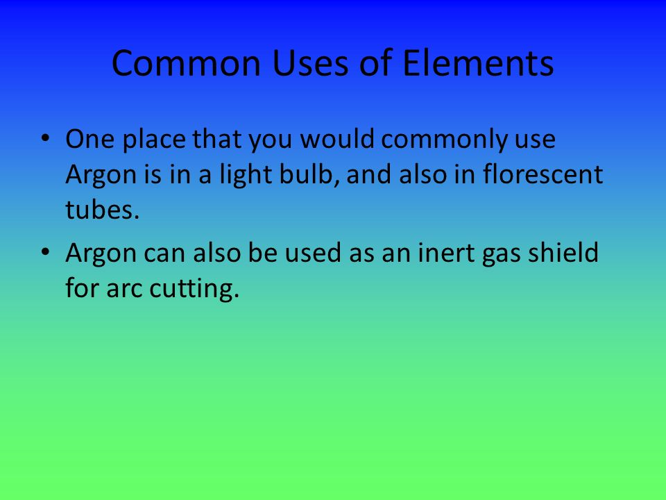 Common Uses of Elements