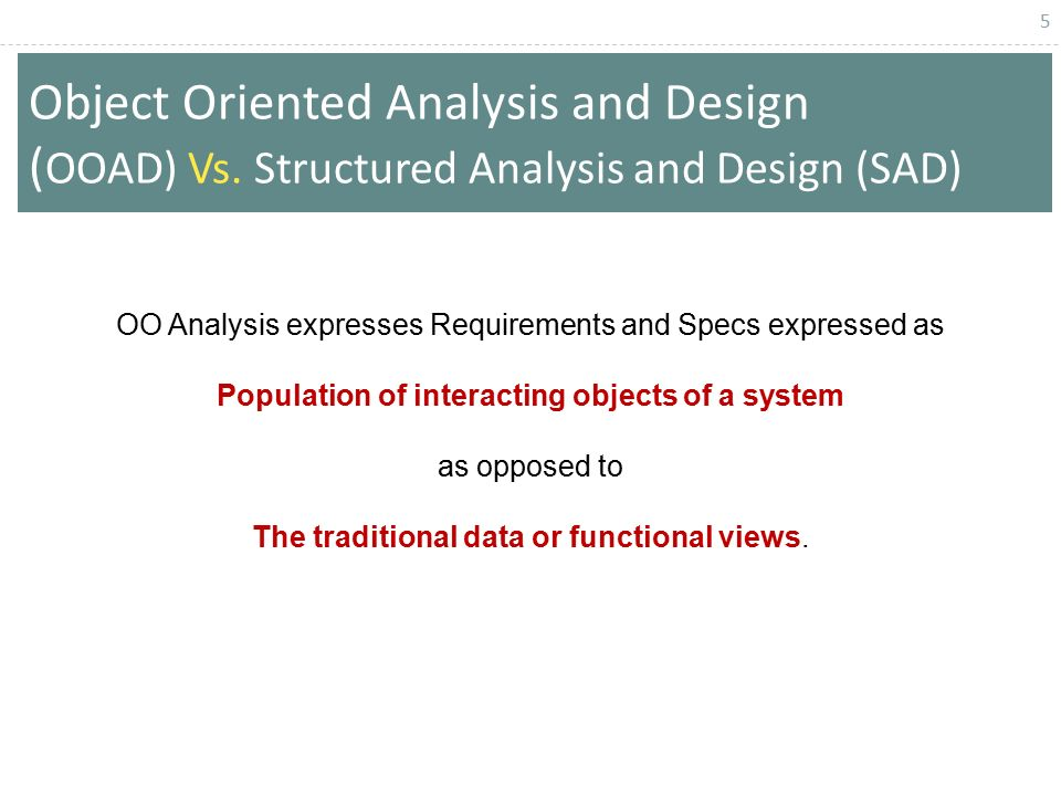 object oriented programming and systems analysis